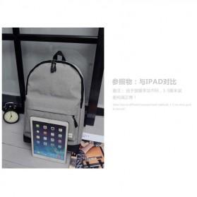 Tas Ransel Korean Style Backpack - K4214 - Black - 7