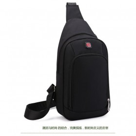 Shuaibo Tas Selempang Leisure Chest Bag - 110 - Black