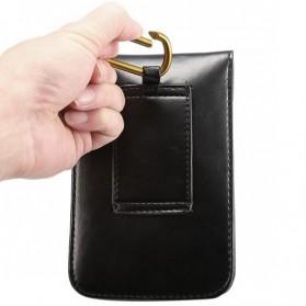 Fulaikate Dompet Tas Holster Smartphone 5.7 Inch Bahan Kulit - 271 - Black - 3