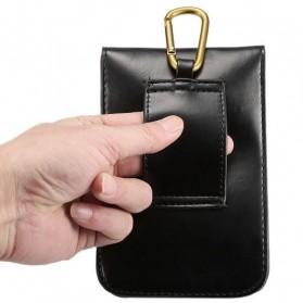 Fulaikate Dompet Tas Holster Smartphone 5.7 Inch Bahan Kulit - 271 - Black - 4