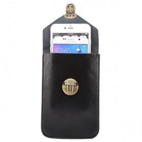 Fulaikate Dompet Tas Holster Smartphone 5.7 Inch Bahan Kulit - 271 - Black - 6