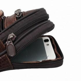 YZPU Dompet Tas Holster Smartphone 6 Inch Bahan Kulit - FK58 - Brown - 4
