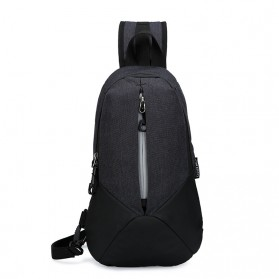 CLEVER BEES Tas Selempang Casual Chest Bag - L108 - Black