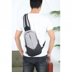 CLEVER BEES Tas Selempang Casual Chest Bag - L108 - Black - 3