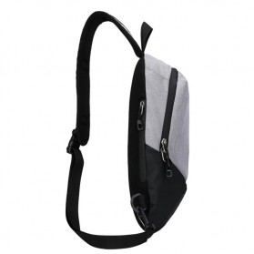 CLEVER BEES Tas Selempang Casual Chest Bag - L108 - Black - 6