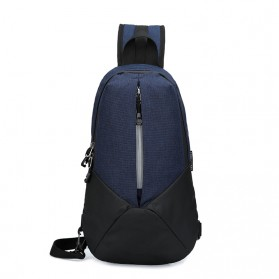 CLEVER BEES Tas Selempang Casual Chest Bag - L108 - Navy Blue - 1