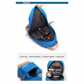 CLEVER BEES Tas Selempang Ransel Casual Chest Bag - L15 - Black - 4