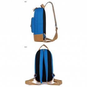 CLEVER BEES Tas Selempang Ransel Casual Chest Bag - L15 - Black - 5