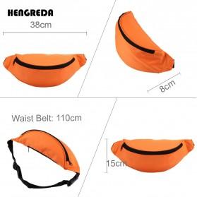 Hengreda Tas Pinggang Waist Bag Colorful Unisex Zipper Pouch Packs - B080 - Black - 2