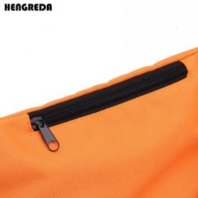 Hengreda Tas Pinggang Waist Bag Colorful Unisex Zipper Pouch Packs - B080 - Black - 3