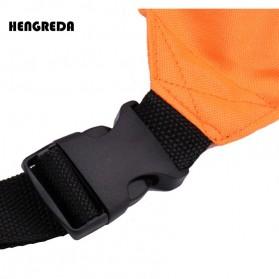 Hengreda Tas Pinggang Waist Bag Colorful Unisex Zipper Pouch Packs - B080 - Black - 4