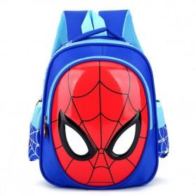 KAFVNIE Tas Ransel Sekolah Anak Backpack Model Spiderman - 1801 - Blue - 1