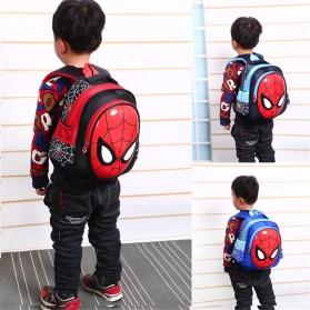 KAFVNIE Tas Ransel Sekolah Anak Backpack Model Spiderman - 1801 - Blue - 2
