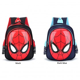 KAFVNIE Tas Ransel Sekolah Anak Backpack Model Spiderman - 1801 - Blue - 4