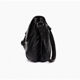 CmetNi Tas Selempang Wanita Messenger Bag PU Leather - 8362 - Black - 3