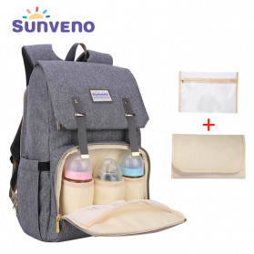 AOFIDER Tas Ransel Botol Susu Bayi Nursery Mummy Diaper Bag - DB02 - Gray