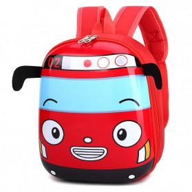 LXFZQ Tas Ransel Sekolah Anak Backpack Model Bus Tayo - E-300 - Red