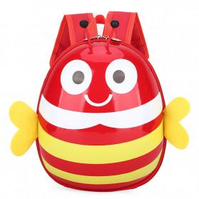 LXFZQ Tas Ransel Sekolah Anak Backpack Model Lebah - E-301 - Red
