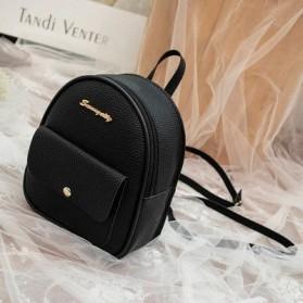 HEONYIRRY Tas Kulit Ransel Wanita Backpack Women - B3005 - Black