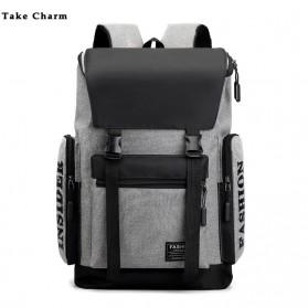 Take Charm Tas Ransel Sekolah Backpack Laptop Bag - SWZ1905 - Gray