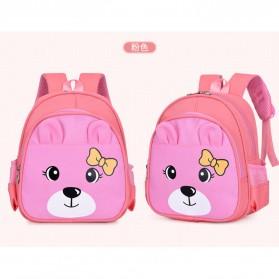 SUNEIGHT Tas Sekolah Anak Karakter Kartun Lucu 3D - AD8750 - Pink