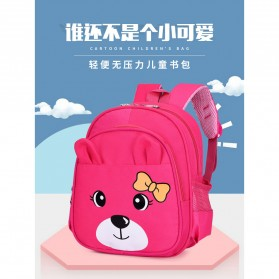 SUNEIGHT Tas Sekolah Anak Karakter Kartun Lucu 3D - AD8750 - Pink - 3