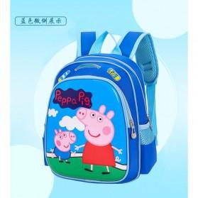 SUNEIGHT Tas Ransel Sekolah Anak Kartun Lucu Karakter Peppa Pig - B300-A - Blue