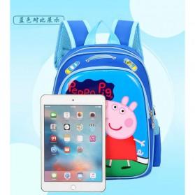 SUNEIGHT Tas Ransel Sekolah Anak Kartun Lucu Karakter Peppa Pig - B300-A - Blue - 10
