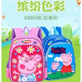SUNEIGHT Tas Ransel Sekolah Anak Kartun Lucu Karakter Peppa Pig - B300-A - Blue - 5