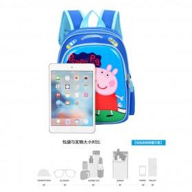 SUNEIGHT Tas Ransel Sekolah Anak Kartun Lucu Karakter Peppa Pig - B300-A - Blue - 7