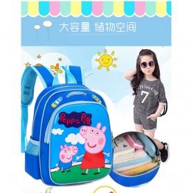 SUNEIGHT Tas Ransel Sekolah Anak Kartun Lucu Karakter Peppa Pig - B300-A - Blue - 8