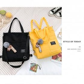 LKEEP Tas Selempang Tote Bag Wanita Korean Shoulder Bag Canvas - 443362 - Yellow - 2