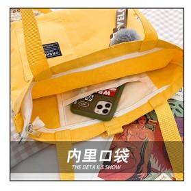 LKEEP Tas Selempang Tote Bag Wanita Korean Shoulder Bag Canvas - 443362 - Yellow - 4