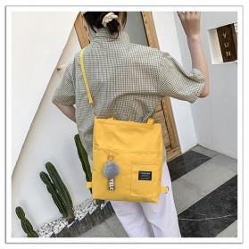 LKEEP Tas Selempang Tote Bag Wanita Korean Shoulder Bag Canvas - 443362 - Yellow - 5