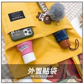 LKEEP Tas Selempang Tote Bag Wanita Korean Shoulder Bag Canvas - 443362 - Yellow - 6