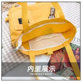 LKEEP Tas Selempang Tote Bag Wanita Korean Shoulder Bag Canvas - 443362 - Yellow - 7