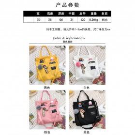 LKEEP Tas Selempang Tote Bag Wanita Korean Shoulder Bag Canvas - 443362 - Yellow - 8