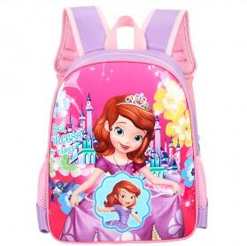SUNEIGHT Tas Ransel Sekolah Anak Kartun Lucu Karakter Barbie - B304 - Pink