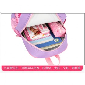 SUNEIGHT Tas Ransel Sekolah Anak Kartun Lucu Karakter Barbie - B304 - Pink - 5