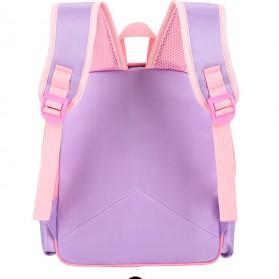 SUNEIGHT Tas Ransel Sekolah Anak Kartun Lucu Karakter Barbie - B304 - Pink - 7