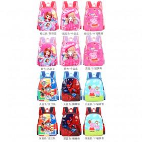 SUNEIGHT Tas Ransel Sekolah Anak Kartun Lucu Karakter Barbie - B304 - Pink - 8