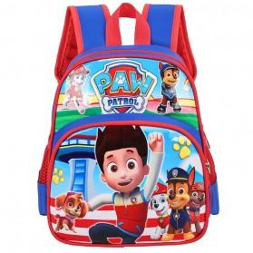 SUNEIGHT Tas Ransel Sekolah Anak Kartun Lucu Karakter Paw Patrol - B305-B - Red/Blue