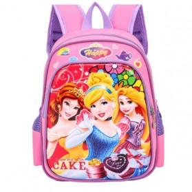SUNEIGHT Tas Ransel Sekolah Anak Kartun Lucu Karakter Princess Disney - B500 - Purple/Pink