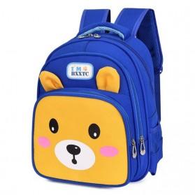 SUNEIGHT Tas Ransel Sekolah Anak Kartun Beruang Lucu 3D - AD8745 - Blue - 6