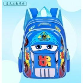 SUNEIGHT Tas Ransel Sekolah Anak Kartun Lucu Karakter Cars McQueen - B306 - Sky Blue