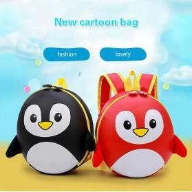 LXFZQ Tas Ransel Sekolah Anak Kartun Lucu Karakter Penguin - E-300 - Black - 2