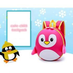 LXFZQ Tas Ransel Sekolah Anak Kartun Lucu Karakter Penguin - E-300 - Black - 3