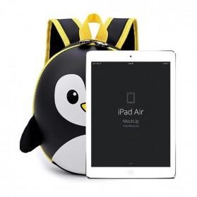 LXFZQ Tas Ransel Sekolah Anak Kartun Lucu Karakter Penguin - E-300 - Black - 6