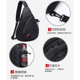 Dxyizu Tas Selempang Waistbag dengan USB Charger Port - Black - 2