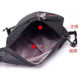 Dxyizu Tas Selempang Waistbag dengan USB Charger Port - Black - 4